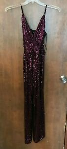 EXPRESS Women's Purple Sequin Pantsuit Small NWT