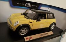 Diecast 1:18 Scale Mini Cooper Maisto Cars Sports Model Car Toys Yellow NEW SYD