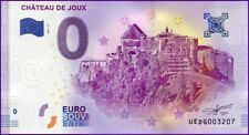 UE DG-2 / CHATEAU DE JOUX / BILLET SOUVENIR 0 EURO / 2017-2