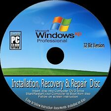 Windows XP Professional 32 Bit & sp3 Installation Neuinstallation Recovery Reparatur CD ROM NEU