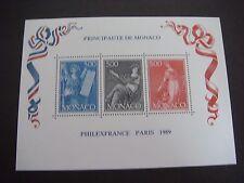 Monaco 1989 Philexfrance 89 Miniature Sheet MS 1951 MNH Cat £11.00
