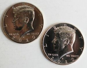 2020 P and D UNCIRCULATED Kennedy 2 Half Dollar Coin 50 Cents JFK Phili + Denver