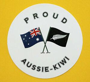 PROUD AUSSIE - KIWI SILVER FERN AUSTRALIAN STICKER VINYL DECAL CAR TRUCK CARAVAN