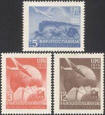 JUGOSLAVIA 1949 UPU 75th/Treni/Ferrovia/Nave/Piano/posta Coach/trasporto 3 V (n45354)