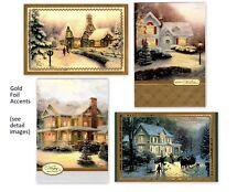 THOMAS KINKADE DELUXE HALLMARK CHRISTMAS CARD ASSORTMENT (4)
