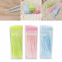 30pcs Clean Double Headed Toothpick Dental Brush Teeth Sticks Floss Pick Oral UK