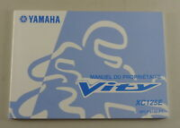 Owners Guide Proprietaire Yamaha Vity XC 125 E From 12/2007