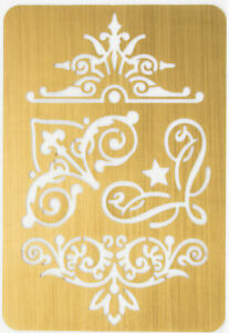 Solid Brass Stencil Template For Embossing & Stenciling Decorative Design 22199