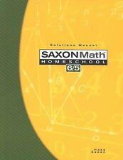 Saxon Math 6/5: Homeschool Solutions Manual Hake Brand New Mint Condition
