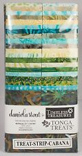 "CABANA Tonga Treat Strip Pack 40 - 2.5"" x 44"" Batik Quilt Fabric ~ Daniela Stout"