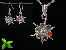 Chakra Healing Pendant /Earring Set & 925 Silver chain #78383