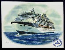 Original Art Work .Gts Constellation. Celeb.cruise ship .W/Shipsofficial stamp