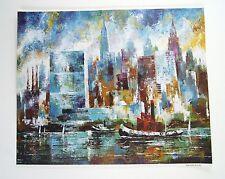 Vintage 1970's Jack Laycox New York Skyline Print