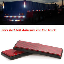 10 x Red Plastic Reflective Warning Plate/Tape Stickers For Car Truck Safety New