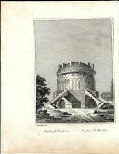 Stampa antica RAVENNA Sepolcro di Teodorico 1834 Old antique print Engraving