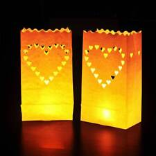 10 Luminary Paper Candle Tea Light Lantern Bags Wedding Garden Party Decorations