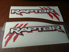 PAIR FORD RAPTOR TRUCK SIDE BED LETTERING VINYL DECALS STICKERS fits 2010-2017