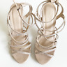 Forever New Nude Stiletto Size 7 Strappy Heels Cocktail Formal Evening Zipper