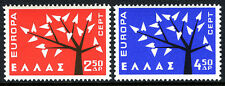 Greece 739-740, MNH. EUROPA CEPT. Young Tree with 19 Leaves, 1962