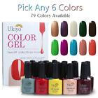 Ukiyo Any 6 Colors Soak Off UV Color Gel Polish or Top Base Coat Nail Manicure