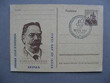 AUSTRIA, privat ill. PC (card E Herrman) FDC, canc. conferense Nuclear energy