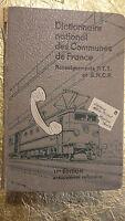 commune  DICTIONNAIRE NATIONAL DES COMMUNES DE FRANCE 1959