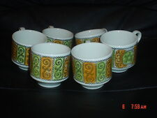 Broadhurst And Sons Kathie Winkle AGINCOURT Small Coffee Cups x 6