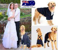 Large Dog Tuxedo Coat Pants Suit  - Wedding Party Staffy Bulldog Pet Costume