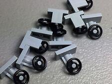 NEW Light Bluish Gray LEGO Steering Wheel Stand Vehicle Car Parts (x10)