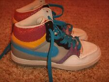 Nike Court Force High 316117-041 Gray/Blue/Pink/Purple Womens Size 10
