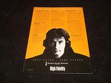 High Fidelity 2001 Oscar ad John Cusack & Disney's Emperor'S New Groove Sting