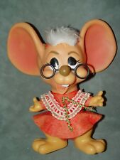 """New listing Troll Doll 11"""" Royalty Industries Christmas Mrs. Santa Claus Mouse Bank 1970"""