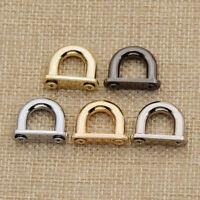 Verschluß Ring Schnalle Taschengriff Leder Tasche DIY Basteln Handwerk 4Stk. Neu