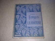 1900.fables La Fontaine.école Estienne.in plano.59/76cm.typographie