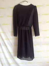 """Vintage """"Billy Jack for Her"""" Sheer See-Through Cut Out Black Long Sleeve Dress"""