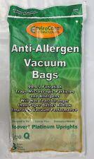 3 Pk. Hoover Style Q AH10000 Platinum UH30010COM Allergen Filtration Vacuum Bags