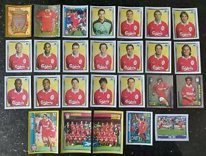 LIVERPOOL 1998 Complete Merlin Premier League 98 Team Set 2x MICHAEL OWEN ROOKIE