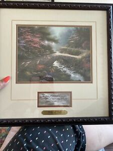 Thomas Kinkade Bridge Of Faith Framed With Certificate