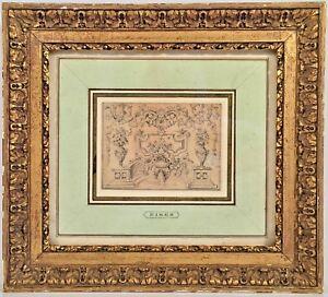 Listed French Artist Charles Dominique Joseph Eisen (1720-1778) Framed Drawing