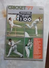 cricket'77 centenary number England vs Australia test cricket.