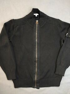 Armani Junior Vintage Boys Zip Up Cotton Cardigan Age 10 Years 142cm Height