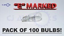 CAR 501 BULBS 100 SIDE REPEATER TAIL NUMBER PLATE LIGHT WEDGE CAPLESS T10 12V 5W