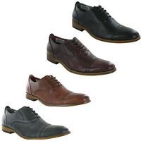 Goor Brogue Capped Oxford Lace Up Leather Lined Smart Dress Wedding Mens Shoes