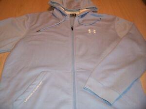 UNDER ARMOUR LONG SLEEVE BLUE HOODED SWEATSHIRT MENS LARGE EXCELLENT