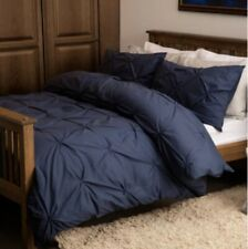 Harlow Double Duvet Cover Set, Navy Double