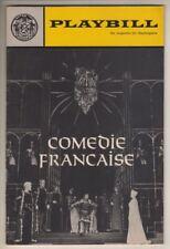 """Comedie Francaise  Playbill  NYC  1966  """"La Reine Morte""""   """"Un Fil A La Patte"""""""