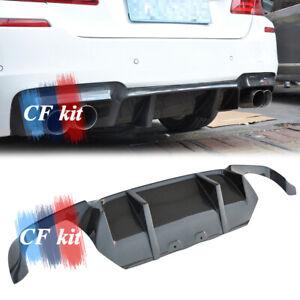 Carbon Fibre For 12-17 BMW F10 M5 MT Rear Bumper Lower Diffuser Lip Spoiler