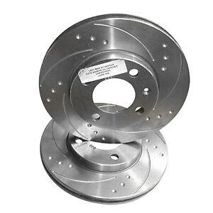 Zerosixty Front Brake Discs For Vauxhall Vectra B SRI 2.0 2.2 16V 1996-2002