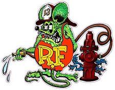 "Rat Fink Fireman Decal 5.5"" X 5"" Free Shipping"