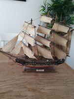Vintage Wooden Model Ship Bergantin Siglo Xv111